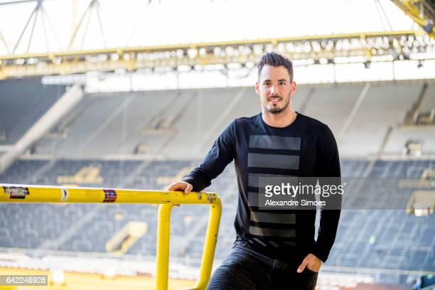 Photo session with goalkeeper Roman Buerki of Borussia Dortmund on FEBRUARY 2 2017 in Dortmund Germany