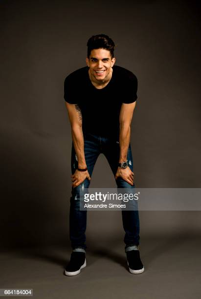 photo session with Marc Bartra of Borussia Dortmund on March 13 2017 in Dortmund Germany