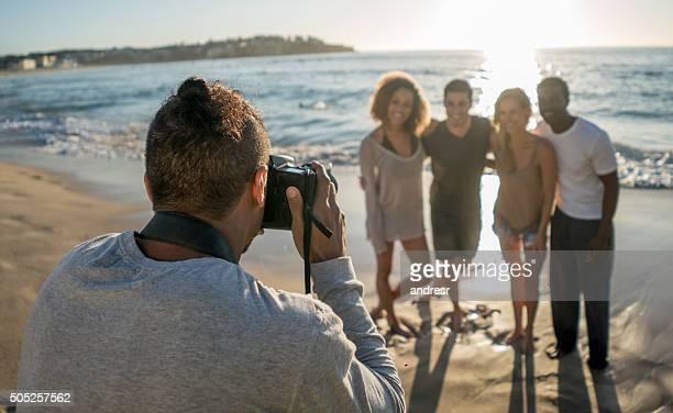 Photo shoot at the beach