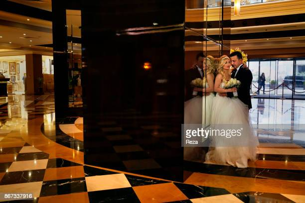 Photo shoot for a young married couple in the reception hall of Divan Hotel on Gulan street in Erbil The hotel belongs to a Turkish chain the Divan...