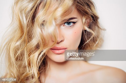 Photo shot of young beautiful woman