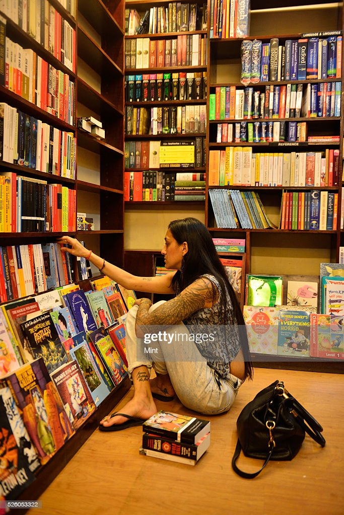 Photo showing Fact and Fiction Book Shop at Vasant Vihar on August 13, 2015 in New Delhi, India.