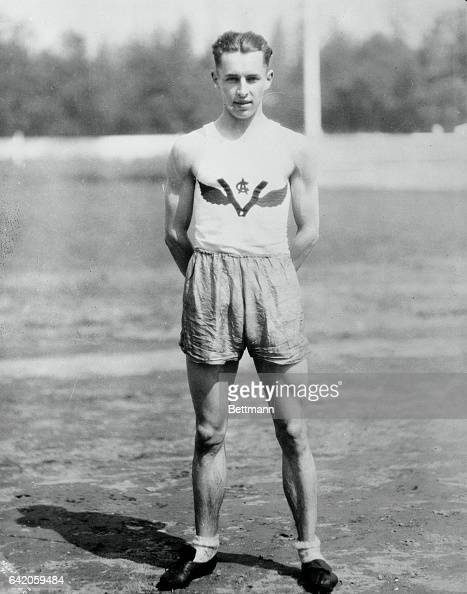 Photo shows a full length of Percy Williams 100200 meter olympic star Filed 8/7/1928