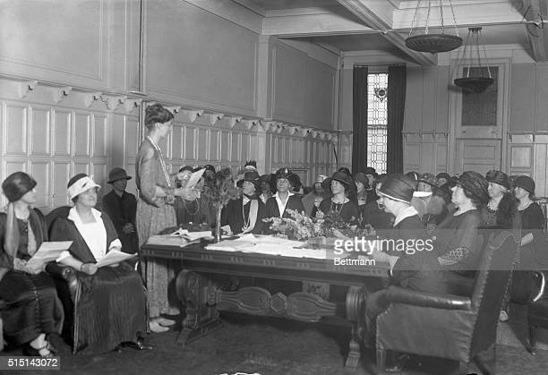 Photo shows a general view of the National Conclave held by members of the Women's National Democratic party held at madison Square Garden Mrs...