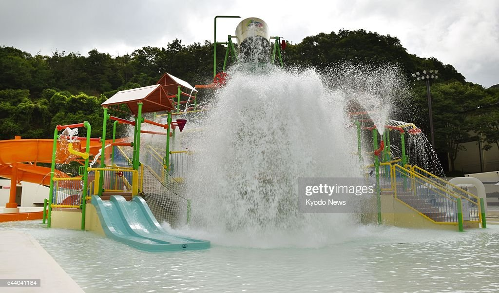Photo shows a swimming pool, part of the Nesta Resort Kobe, a huge resort in the western Japan city of Miki, near Kobe, on July 1, 2016, the day of its opening. Nesta Resort, operator of the facility, aims for 600,000 visitors and sales of 2.5 billion yen ($24 million) during the first year of operations.