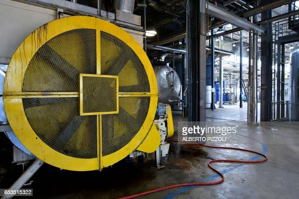A photo shows a view of the French sugar cooperative Cristal UnionSFIR Raffineria di Brindisi sugar refinery in Brindisi on March 15 2017 Cristal...