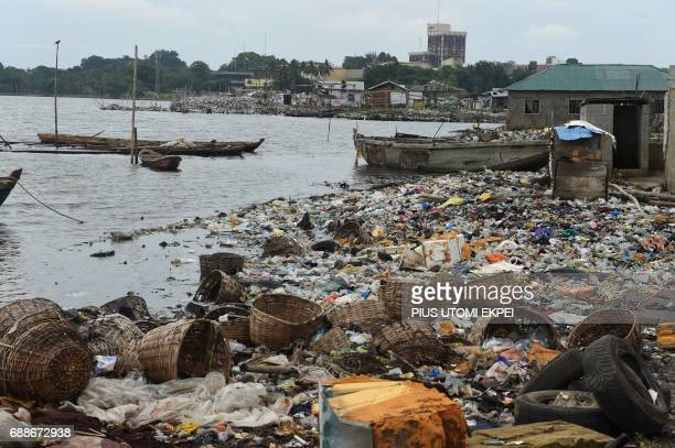 A photo shows fishing boats abandoned following an eviction notice served on residents of IlajeBariga waterfront slum mostly fishermen and sand...