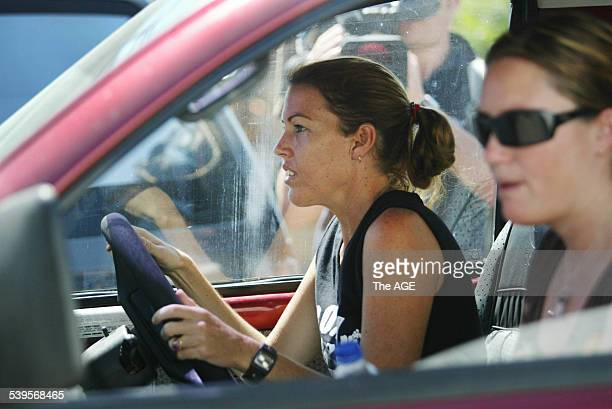 Photo shows Mercedes Corby leaving the Kerobokan jail in Bali with Alyth McCoomb after visiting Schapelle with Ron Bakir and Robyn Tampoe on 25th May...