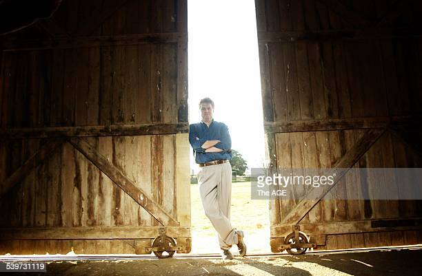 Photo shows Minister for Agriculture Peter McGauran at his farm near Traralgon in Gippsland on 4th July 2005 THE AGE NEWS Picture by JASON SOUTH
