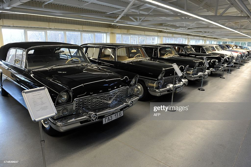 Photo shows part of the car collection of ousted Ukrainian President Viktor Yanukovych at the Mezhyhirya, his former residence, near Kiev on February 24, 2014. Ukraine issued an arrest warrant on February 24 for ousted president Viktor Yanukovych over the 'mass murder' of protesters and appealed for $35 billion in Western aid to pull the crisis-hit country from the brink of economic collapse. The dramatic announcements by the ex-Soviet nation's new Western-leaning team -- approved by parliament over a chaotic weekend that saw the pro-Russian leader go into hiding -- came as a top EU envoy arrived in Kiev to buttress its sudden tilt away from Moscow.