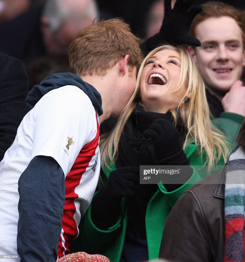 Photo shows <a gi-track='captionPersonalityLinkClicked' href=/galleries/search?phrase=Prince+Harry&family=editorial&specificpeople=178173 ng-click='$event.stopPropagation()'>Prince Harry</a> and his girlfriend Chelsy Davy laughing before the Investec Challenge international rugby match South Africa vs. England in Twickenham, west London, on November 22, 2008. <a gi-track='captionPersonalityLinkClicked' href=/galleries/search?phrase=Prince+Harry&family=editorial&specificpeople=178173 ng-click='$event.stopPropagation()'>Prince Harry</a>, third in line to the throne, has split with his girlfriend Chelsy Davy after five years, British media reported on January 24, 2009. AFP PHOTO / Chris Ratcliffe