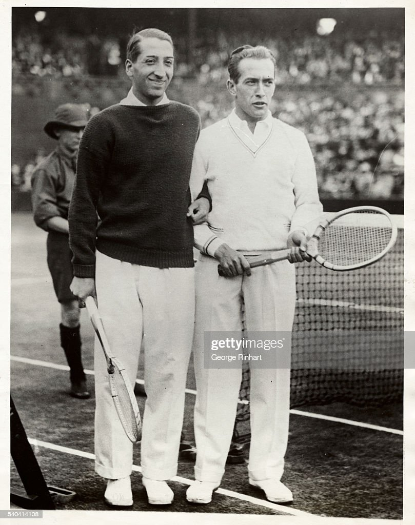 French Tennis Champions Henri Cochet and Rene LaCoste