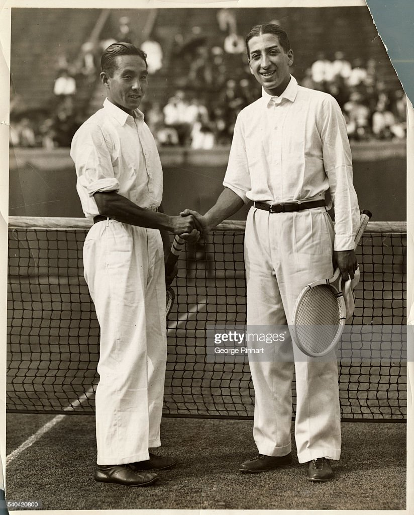 Takeichi Harada and Rene Lacoste Shaking Hands