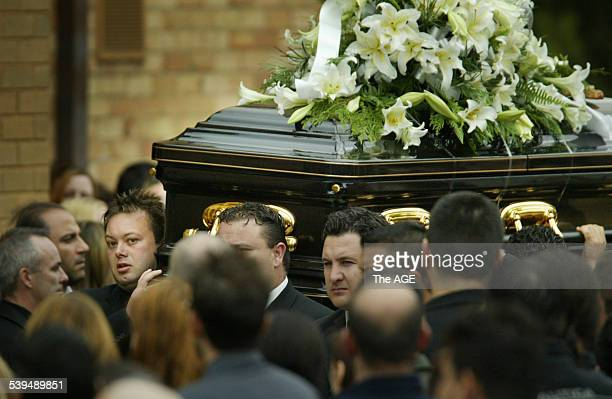 GANGLAND FUNERAL Photo shows the funeral of slain underworld figure Andrew Benji Veniamin at the Greek Orthodox Parish of St Andrews Seen here Carl...