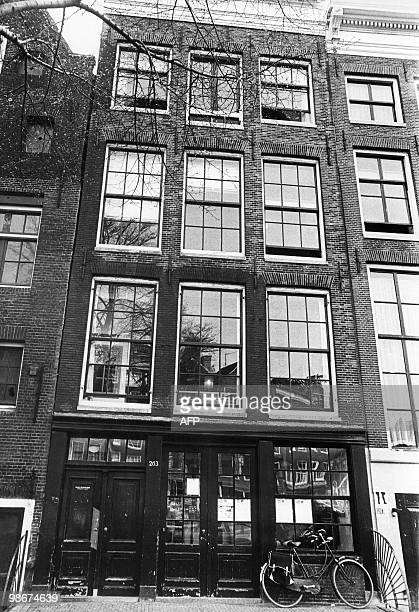 Photo shows the house where Anne Frank lived in Amsterdam and where she hid with her parents to escape from Nazis between June 1942 and August 4 1944...