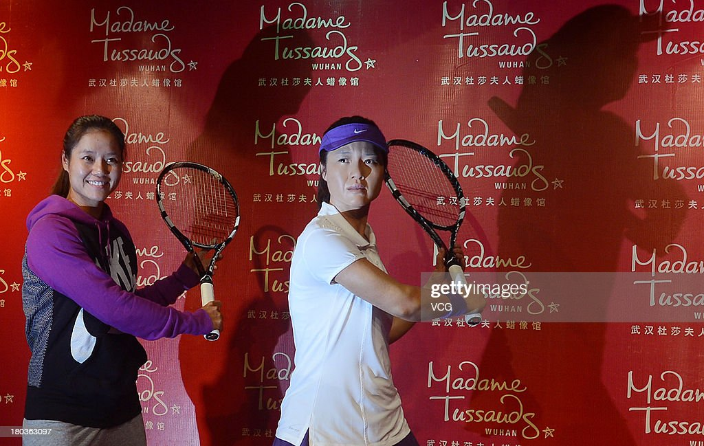 Photo shows the wax figure of Chinese professional tennis player Li Na during the unveiling ceremony at Madame Tussauds on September 12, 2013 in Wuhan, China.