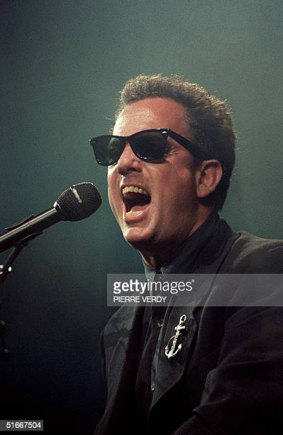 Photo taken 13 May 1990 in Paris of US singer Billy Joel performing at the piano during a concert Billy Joel became a star with his album The...