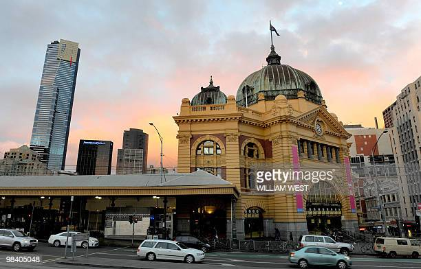 A photo taken April 2 2010 shows Melbourne's Flinders Street Station which is the central railway station of the suburban rail network of Melbourne...