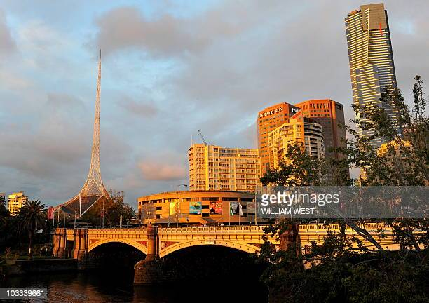 A photo taken April 2 2010 shows the Arts Centre Spire which sits over a complex of theatres and concert halls in the Melbourne Arts Precinct The...