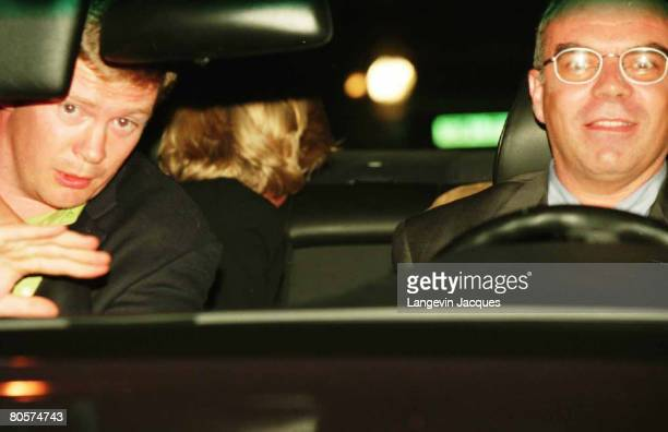 A photo taken by Jacques Langevin in Paris on the night of August 31 1997 shows Diana Princess of Wales her bodyguard Trevor ReesJones and driver...