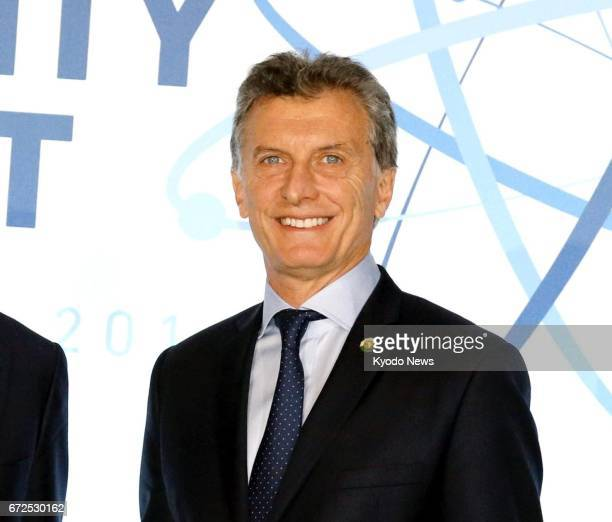 Photo taken in April 2016 shows Argentine President Mauricio Macri The Japanese government said on April 25 that the president will pay a threeday...