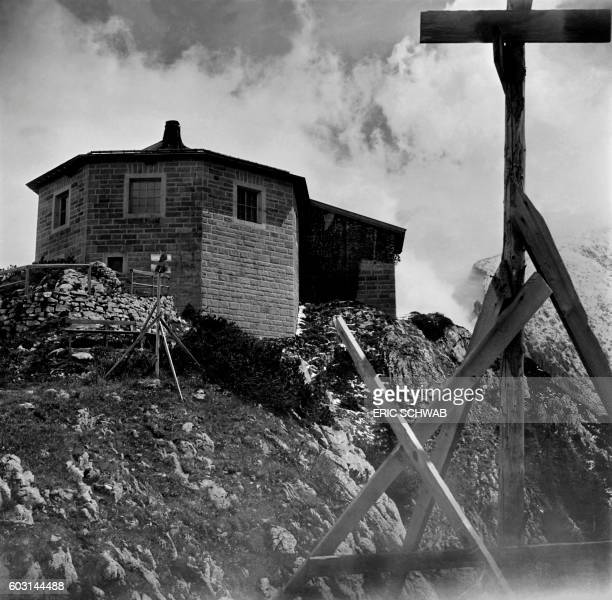 Photo taken in May 1945 shows a view of the eagle's nest the octagonal main hall or reception room in the Obersalzberg of the Bavarian Alps near...
