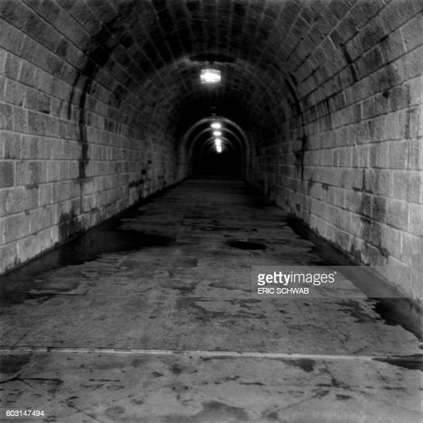 Photo taken in May 1945 shows an air raid shelter at the Berghof Adolf Hitler's home in the Obersalzberg of the Bavarian Alps near Berchtesgaden...