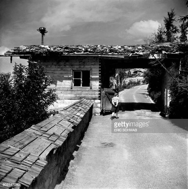 Photo taken in May 1945 shows the entrance of the eagle's nest the Berghof near Berchtesgaden Bavaria Rebuilt much expanded and renamed in 1935 the...