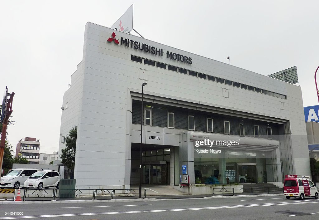 Photo taken July 1, 2016, shows one of Mitsubishi Motors Corp.'s dealerships in Tokyo. The automaker restarted sales of the eK Wagon and eK Space minicar models the same day after a two-and-a-half-month hiatus since April 20 following the revelation of fuel-economy manipulations on the vehicles.