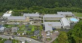 Photo taken July 27 from a Kyodo News helicopter shows the Tsukui Yamayuri En the mental health care facility in Sagamihara west of Tokyo where 19...