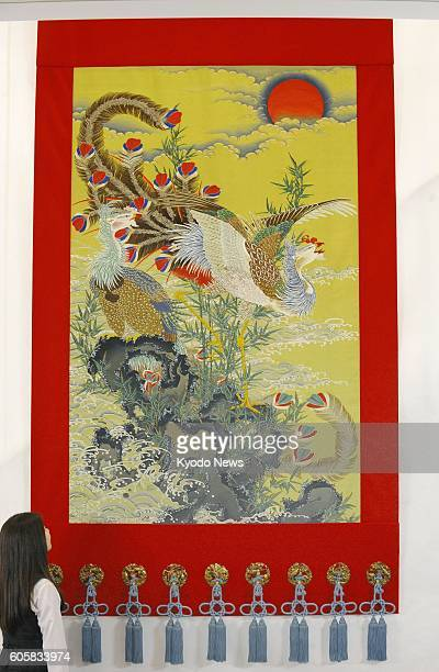 Photo taken June 23 in Kyoto shows a tapestry created by Kawashima Selkon Textiles Co based on a painting by the 18thcentury Japanese painter Ito...