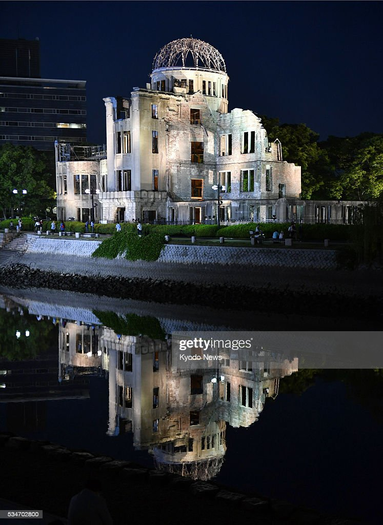 Photo taken May 27, 2016, shows the Atomic Bomb Dome, the skeletal remains of the only major building partially left standing after the Aug. 6, 1945, blast. U.S. President Barack Obama made a historic visit to the western Japanese city earlier that day.