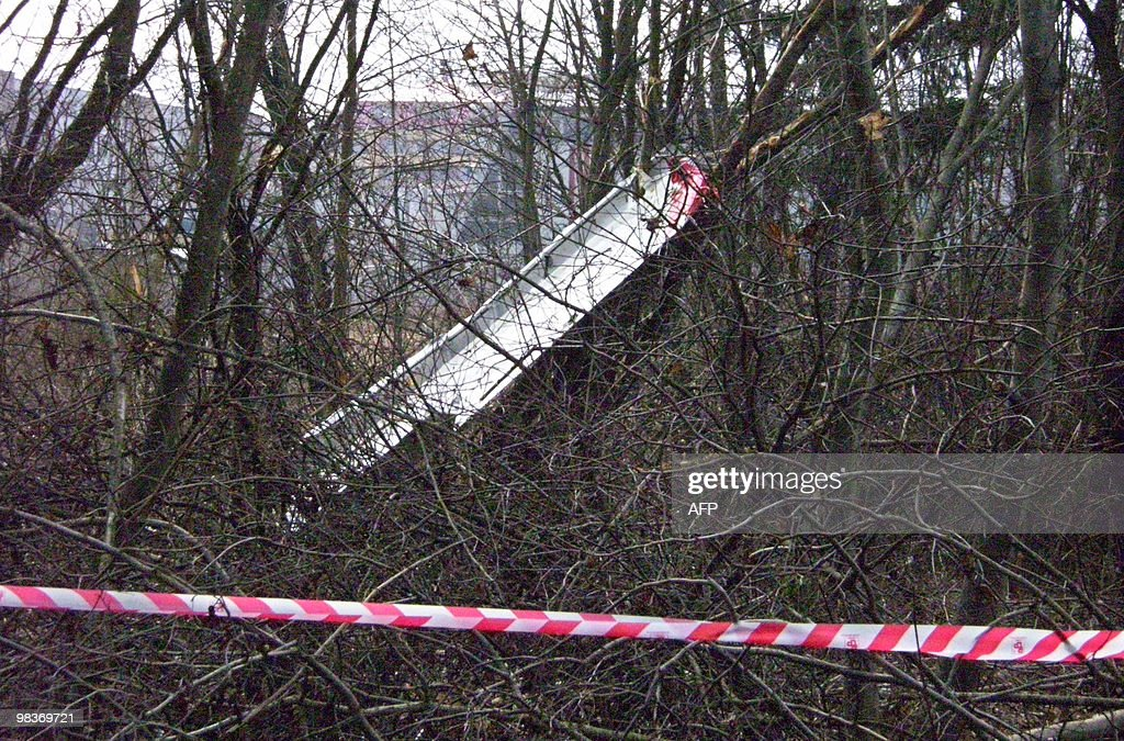 Photo taken on April 10 2010 shows the wreckage of a Polish government Tupolev Tu154 aircraft that crashed near Smolensk airport A plane carrying...