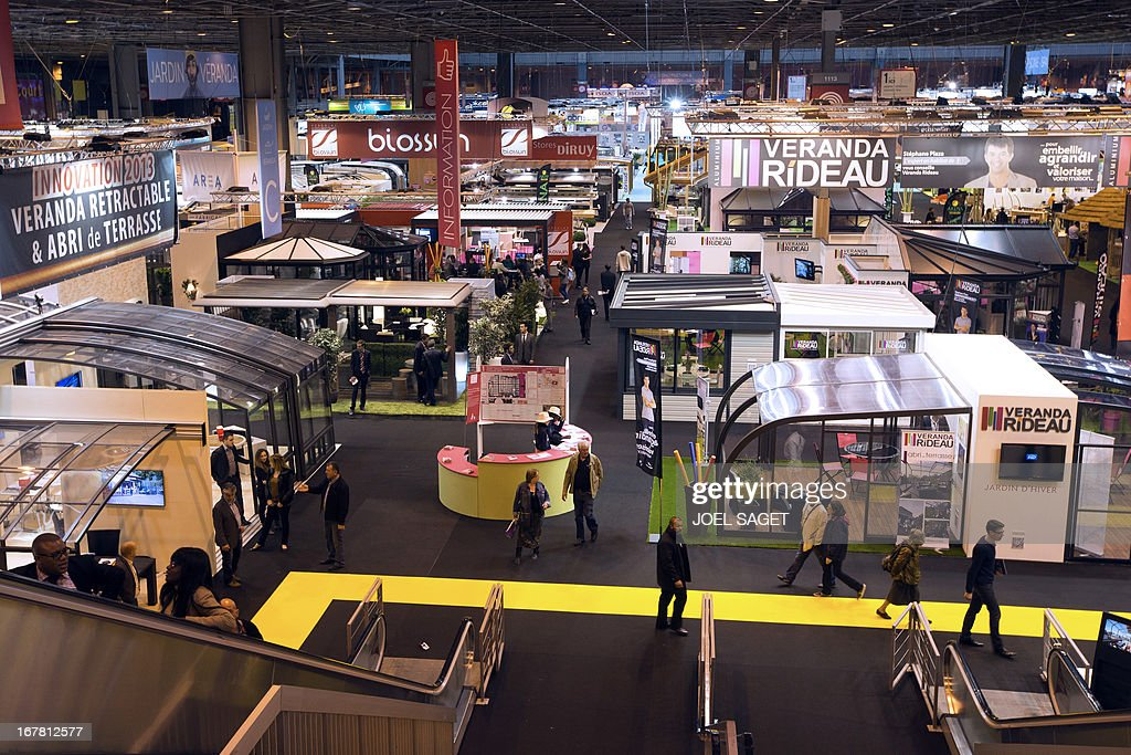 A photo taken on April 30, 2013 shows the Paris' Fair at the Porte de Versailles exhibition in Paris.