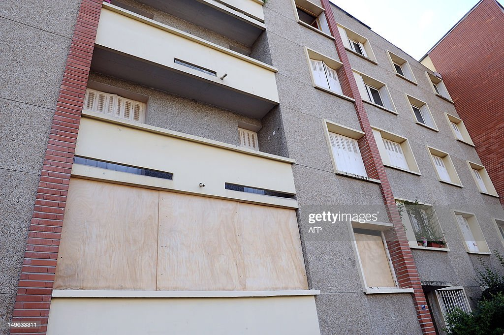 A photo taken on August 1, 2012 in the southern city of Toulouse, shows the apartment (on the first floor) on the street rue du sergent Vigne, where used to live Mohamed Merah. The neighbors are asking to the Prefecture de la Haute-Garonne that the building be rehabilitated following the police operation.