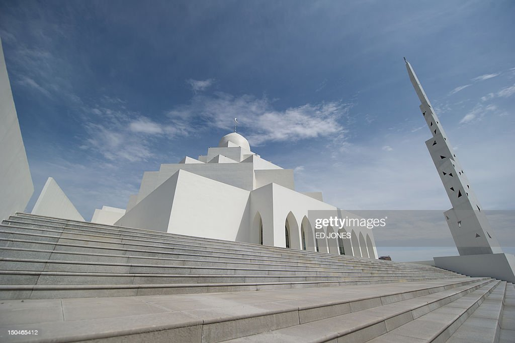 A photo taken on August 18, 2012 shows a newly built mosque in the inner Mongolian city of Ordos. Miss China won the coveted title of Miss World on August 18, triumphing on home soil during a glitzy final held in a mining city on the edge of the Gobi desert. The city has grown rich over the past decade on the back of a coal mining boom that has transformed it from a sandstorm-afflicted backwater into one of the wealthiest places in China. The boom triggered a frenzy of building in the city, but the local government has struggled to fill the vast tower blocks that sprung up, earning it the title of China's biggest ghost town. AFP PHOTO / Ed Jones