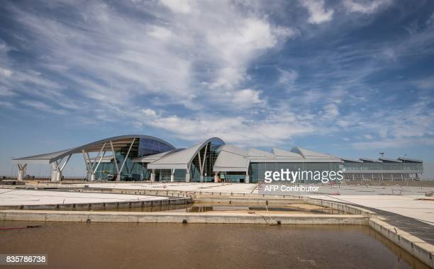 A photo taken on August 20 2017 shows the newly built 'Platov' airport outside of the Southern Russian city of RostovonDon RostovonDon will host...