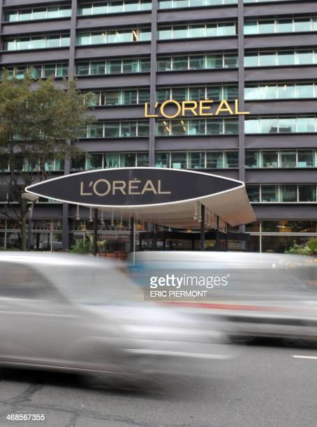 Photo taken on August 26 2010 shows the logo of French group L'Oreal the world's largest cosmetics maker on L'Oreal headquarters in Clichy near Paris...