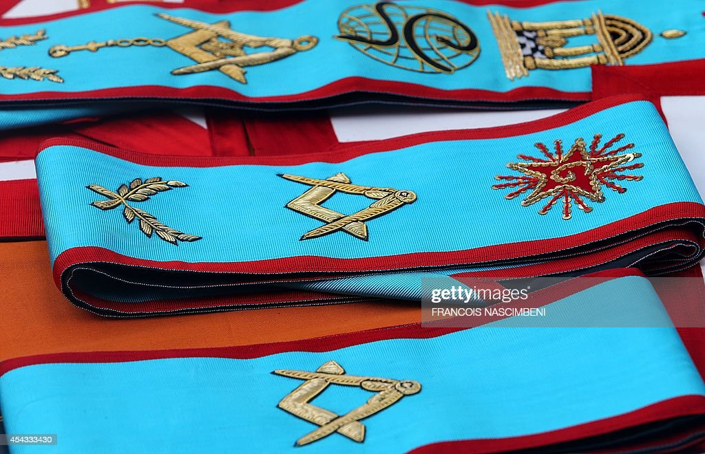 A photo taken on August 29 2014 in Reims northeastern France shows vestments during the annual convent of the masonic organization France's Grand...