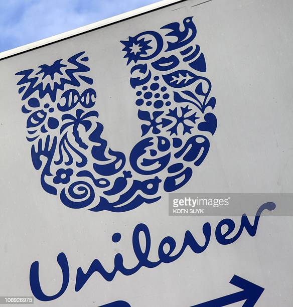 A photo taken on August 4 2009 shows the logo of the AngloDutch cosmetics group Unilever at company headquarters in Rotterdam Europe's competition...