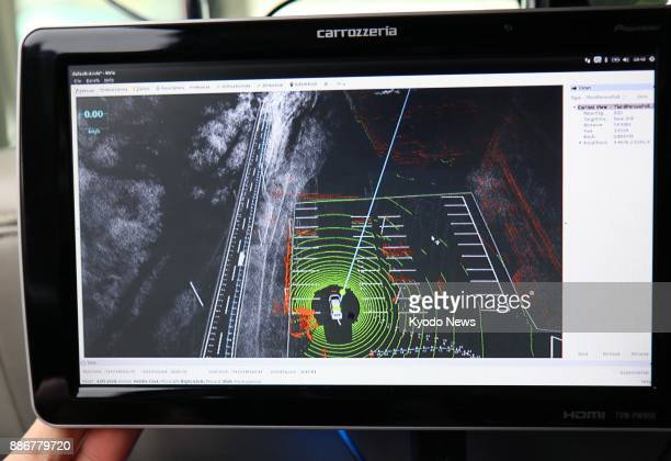 Photo taken on Dec 4 shows a 3D map in a selfdriving car experiment being conducted by the Ministry of Land Infrastructure Transport and Tourism in...