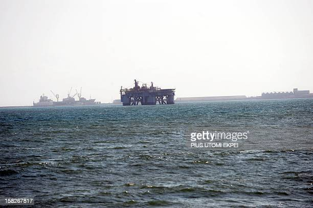 Photo taken on December 1 2012 shows an Oil rig in Sekondi waters Ghana After celebrating the discovery of oil and becoming one of the few African...