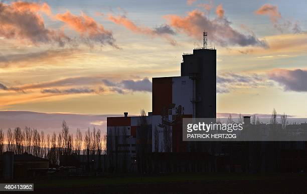 A photo taken on December 12 2014 shows the the main factory of the Kronenbourg brewer at in the eastern French city of Obernai AFP PHOTO / PATRICK...