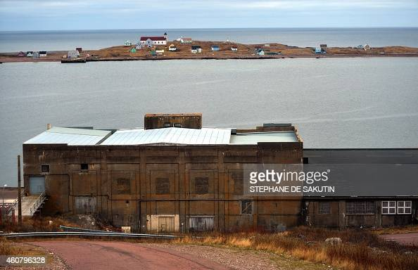 Photo taken on December 22 2014 shows the old harbour of SaintPierre in the French northern Atlantic island of SaintPierreetMiquelon AFP PHOTO /...