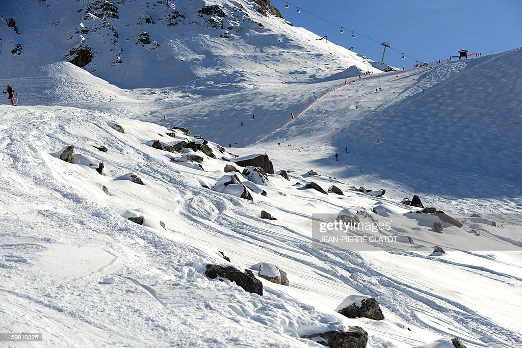 A photo taken on December 31, 2013 in Meribel shows the off-piste spot where seven-time German Formula One world champion Michael Schumacher is believed to have fallen on December 29. Schumacher's condition has shown a slight improvement after a second operation following his weekend ski accident but he is not out of danger, doctors said December 31. 'We are surprised by the improvement,' one doctor said at a press conference, adding that the medical team had 'gained some time'. AFP PHOTO / Jean Pierre Clatot