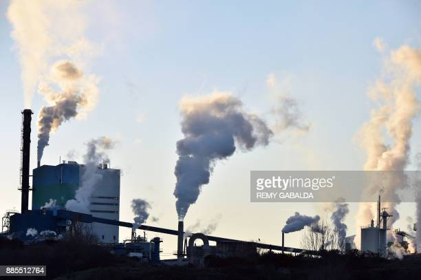 A photo taken on December 4 2017 shows the factory the firm Fibre Excellence in Saint Gaudens where bleached paper pulp is produced / AFP PHOTO /...