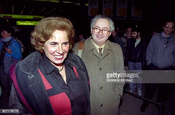 A photo taken on December 9 1991 shows German nazihunter Beate Klarsfeld arriving from Syria welcomed by her husband Serge Klarsfeld at Orly airport...