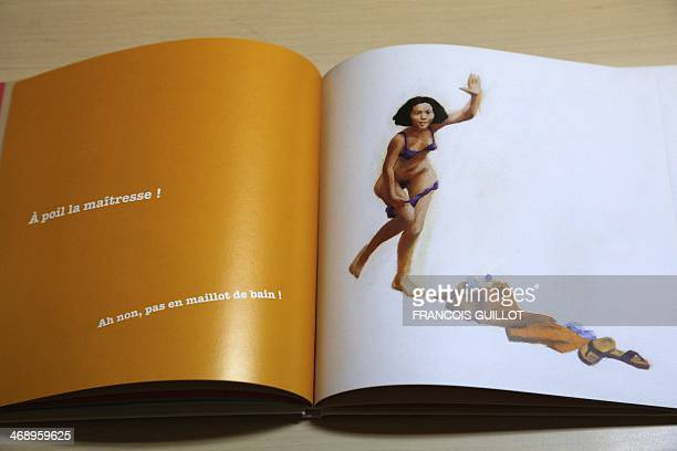 Photo taken on February 12 2014 at the offices of the French publishing house Editions du Rouergue in Paris shows the children's book 'Tous a poil'...