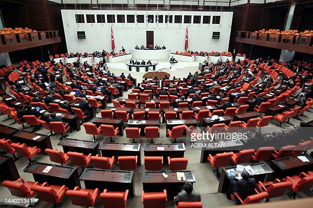 A photo taken on February 162012 shows the Parliament meeting in Ankara The Turkish Parliament in Ankara on May 7 begun writing its new constitution...