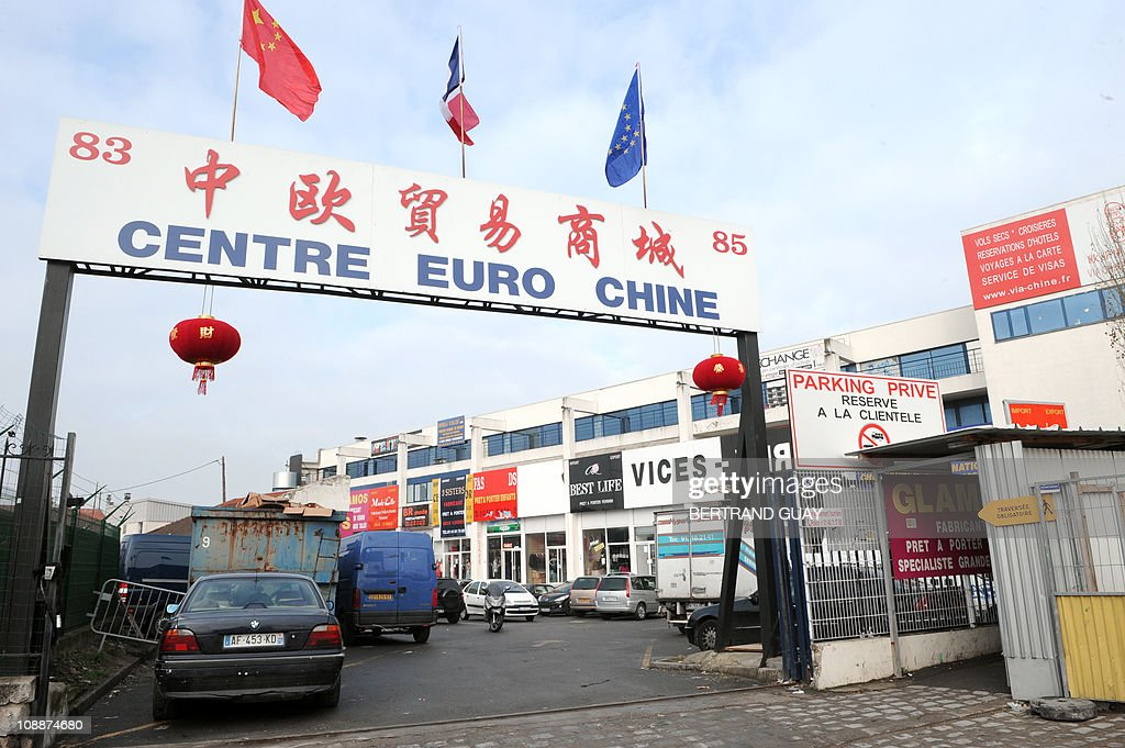 TAIX A photo taken on February 2 2011 shows the entrance of the 'Centre Euro Chine' business center in Aubervilliers north of Paris where 720 textile...